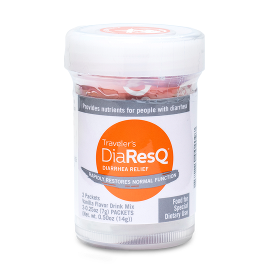 DiaResQ comes in a variety of sizes, any perfect for your trip.