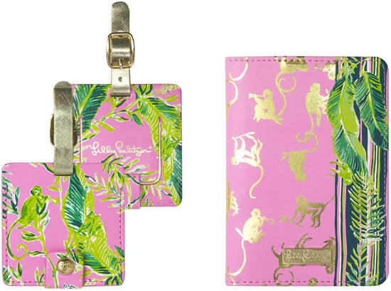 Lilly Pulitzer Travel Set Passport Cover and Luggage Tags Chimpoiserie