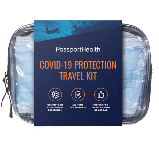 This kit is specifically designed to help travelers stay safe at home and abroad.
